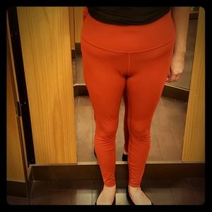 "LULULEMON Wunder Unders 28"" Limited Edition Orange"